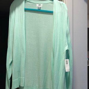 Old Navy mint green open cardigan XL